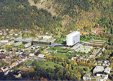 Illustrasjonsfoto av det nye sykehuset i Drammen.