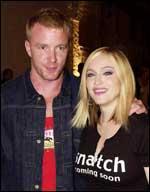 Madonna og ektemannen Guy Richie.