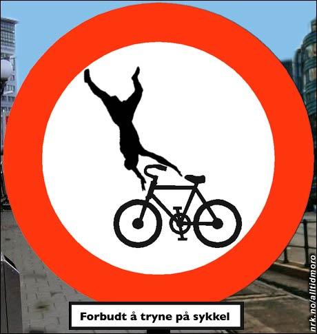 Bystyret i Oslo setter opp nye skilt for å hjelpe syklistene. (Alltid Moro)