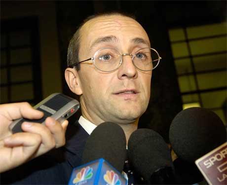 Giovanni Bonici var en av få Parmalat-sjefer som møtte i retten i dag. (Foto: Giuseppe Gualtieri/ AP/ Scanpix)