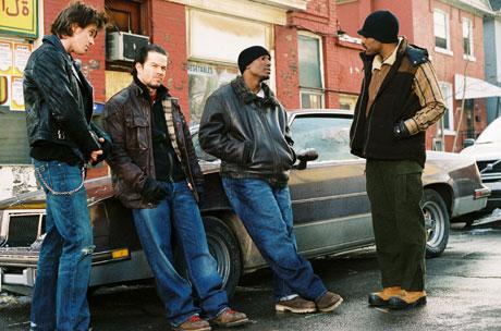Fire brødre som ikke er brødre i filmen Four Brothers. Foto: Filmweb