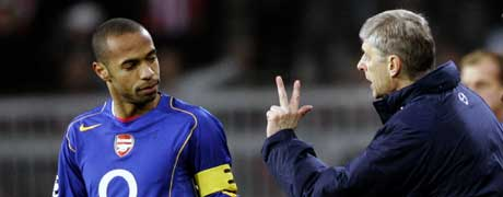 Arsene Wenger og Thierry Henry. (FOTO: AP/ SCANPIX)