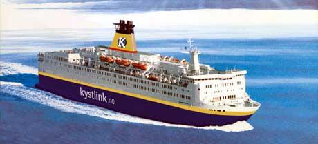 """""""Pride of Telemark"""" er Nye Kystlinks ferge, som skal trafikkere Langesund-Strömstad Ill. Kystlink"""