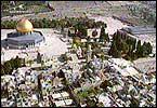Tempelhøyden med Al-Aqsamoskeen i Jerusalem.