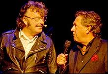 En musikalsk frydopplevelse med Herr Kørberg og gjesteartist Blunc. Slik beskriver Nitimens anmelder Rune Alstedt forestillingen.(Foto: Arne D. Skalmeraas)