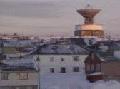 Slik så radaren i Vardø ut i november 1999. Foto: NRK