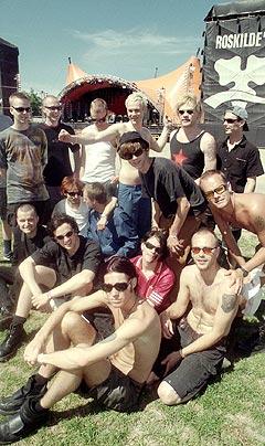Seigmen på toppen av sin karriere, på Roskilde i 1998, sammen med andre norske artister som Palace of Pleasure, Subgud og Drum Island. Foto: Heiko Junge, NTB Pluss.