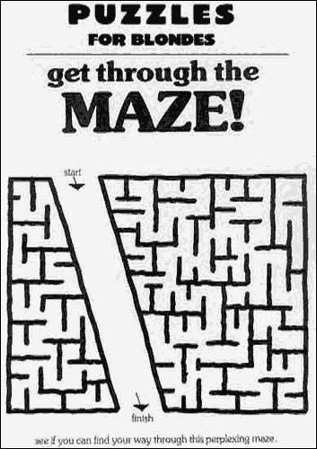 Finn veien gjennom labyrinten!