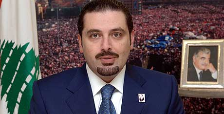 Saad al-Hariri under en TV-sending fra Jeddah i Saudi-Arabia i dag. (Foto: Reuters/Scanpix)