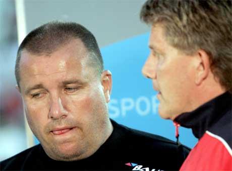 Når disse to trenerne møtes på Start stadion, kan rekordmange tilskuere følge med (Foto: Lise Åserud / SCANPIX)