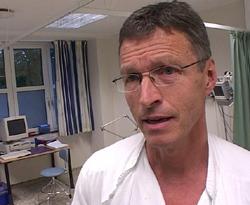 Rolf Pedersen, klinikksjef ved Haraldsplass. Foto: Jo Hjelle/NRK.