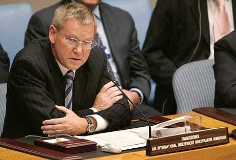 Detlev Mehlis har ledet FNs gransking av drapet på Libanons tidligere statsminister Rafik Hariri. (Foto: AFP/Scanpix)