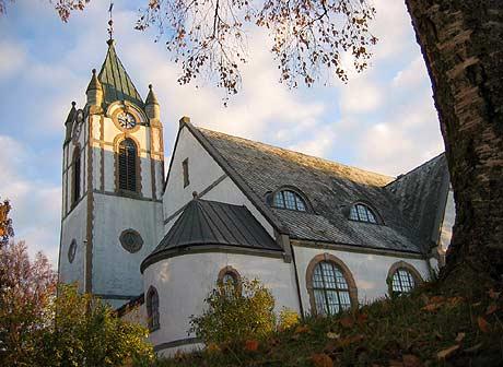 Statskirkens fremtid blir et stadig hetere tema. Bildet er av Levanger kirke. (Arkivfoto: Eivind Aabakken)