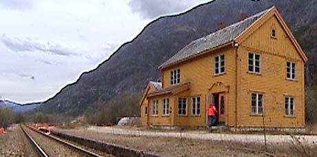 Romsdalshorn stasjon (Foto: Brede Røsjø/ NRK)