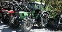 Traktoren som vart stolen. Foto: Maskinsenteret