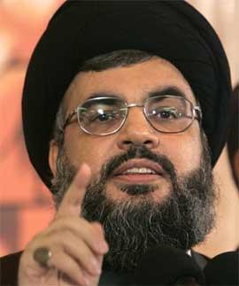Hizbollah-leder Sjeik Hassan Nasrallah var også på møtet. (Arkivfoto: Scanpix / AP)