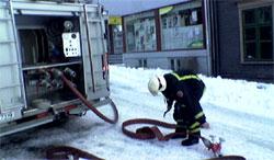 Brannfolk kom raskt til brannstedet