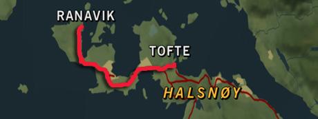 Her skal veien gå på Halsnøy når det undersjøiske sambandet er ferdig.