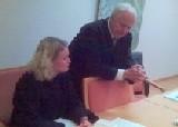 Bistandsadvokat Nina Norland og aktor statsadvokat Ole Bjarne Hagen. Foto: Jan Erik Helleren, NRK