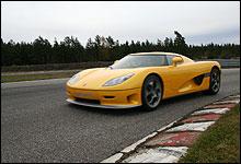 Det ble ny fartsrekord når Tommy tråkka til med Koenigseggen på Rudskogen.