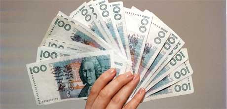 Svenske analytikere regner med at verdien av den svenske krona kommer til å stige rett over nyåret i 2006. Foto: Scanpix/Tommy Mardell / Aftonbladet Bild
