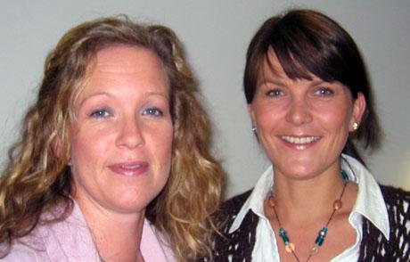 Birgitte Bang Paulsen og Anne Kristine Mittet gleder seg til tvillingmammahelg på Geilo. Foto: NRK