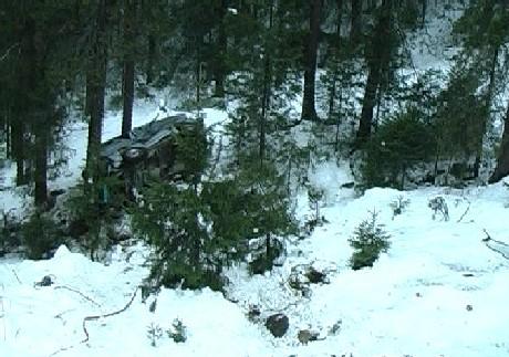 Bratt terreng på ulykkesstedet. Foto: Jan Erik Helleren, NRK