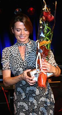 Du hører henne i Kveldsmat og Englefjes i NRK P1: Årets programleder norsk radio 2005 - Kari Slaatsveen. (Foto: Jon-Annar Fordal)