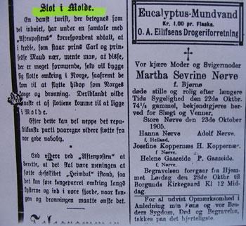 I 1905 nytta avisene framleis gotisk skrift (fraktur) i det redaksjonelle stoffet, medan annonsane blei trykte med latinske typar (antikva).