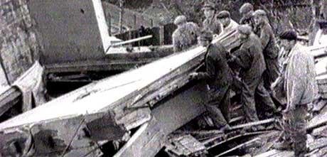 Arkivfoto frå bombinga på Laksevåg.