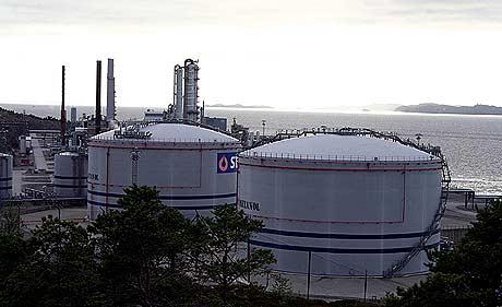 Statoil får bygge gasskraftverk utan CO2-reinsing på Tjeldbergodden.(Foto: Glenn Thomas Nilsen)