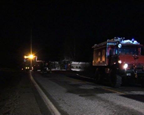 Rv 3 og Røros-banen ble stengt i flere timer