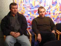 Lars Ola Stumlien og Jan Sørum er foreldre til elever ved Biristrand skole.