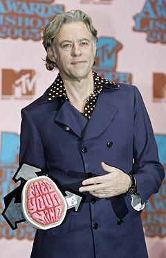 Bob Geldof fikk Free Your Mind award. Foto: Jasper Juinen, AP Photo / Scanpix.
