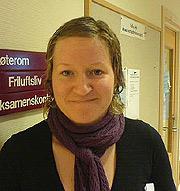 Anna Magnussen ved Høgskolen i Telemark (Foto: NRK)