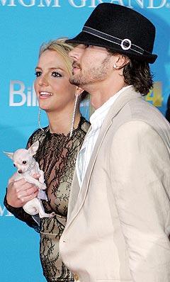 Er det tidligere så lykkelige paret Britney Spears og Kevin Federline ikke så lykkelige lenger? Foto: Eric Jamison, AP Photo / Scanpix.
