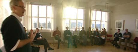 Gruppa møtes jevnlig og bruker tiden til å diskutere seg fram til et manifest for mer helsefremmende miljøer.