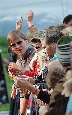 Buktafestivalen i Tromsø er kåret til Årets Festival for 2005 av Norsk Rockforbund. Foto: Bukta.no.