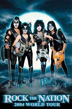 "Kiss-DVDen ""Rock the nation live!"" ble spilt inn på"