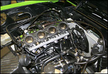 Denne 2001-modellen av MC-motoren Kawasaki ZX12R sitter i Evjens BMW.