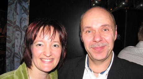 Linda Backgren-Holm og Peter Lindberg. Foto: Erik Forfod/NRK