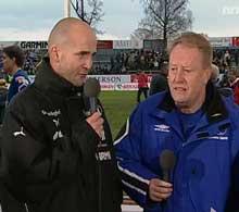 - Moss var det beste laget, sa Molde-trener Bosse Johansson (t.h.) etter kampen. Tørum gleder seg til returkampen. Foto: NRK