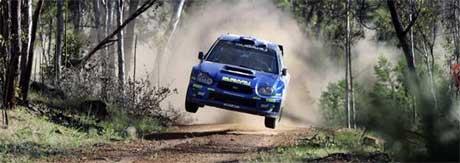 I 190 km/t smalt Subaruen inn i kengeruen, og Rally Australia var over. (Foto: www.swrt.com)