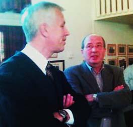 Advokat Harald Nyhus og Knut Nordstoga, eiendomssjef i Lunner kommune