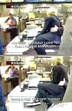 Ashlee Simpson krever å få snakke med sjefen. Foto: Faksimile.