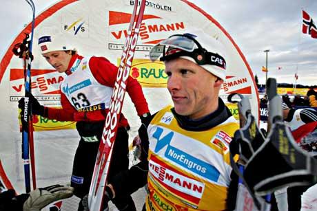 Tor Arne Hetland jubler etter seieren. (Foto: Ørn E. Borgen / SCANPIX)