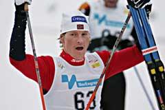 En fornøyd Jens Arne Svartedal etter 2. plassen. (Foto: Ørn E. Borgen / SCANPIX)