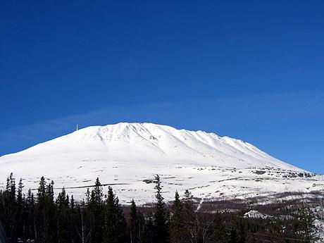 Fra Gaustadtoppen sendes FM-signaler fra fjelltopp til fjelltopp ut over hele Norge. Foto: Gunnar Lier / Scanpix
