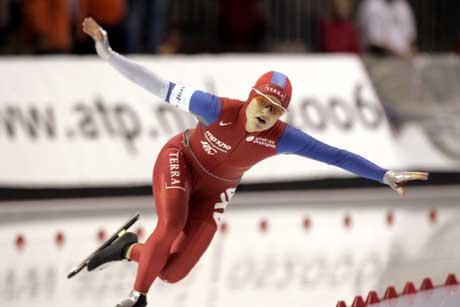 Hedvig Bjelkevik hadde feilskjær som ødela hennes 1000 meter. (Foto: Terje Bendiksby / SCANPIX)