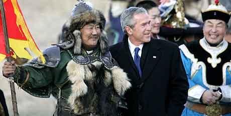 Fra Asia-reisen til president Bush. Foto: Kevin Lamarque , Reuters